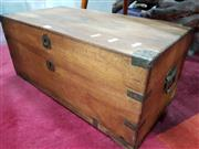 Sale 8680 - Lot 1024 - Small Timber Box with Copper Corners