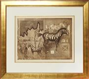 Sale 8807 - Lot 2031 - John Winch (1944 - 2007) ( 2 works) - Documentation of Voyage 1535 IV & VII, 1982 44.5 x 60cm, each (frame: 84 x 98cm, each)