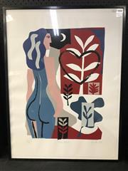 Sale 8953 - Lot 2038 - Lo Cole Blue Venus 1989 screenprint ed. 12/50, 80 x 60.5cm, signed and dated -