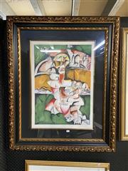 Sale 8978 - Lot 2062 - Alexandra Nechita No Bridge Too Far lithograph ed.981/2500, 110 x 90cm (frame), signed