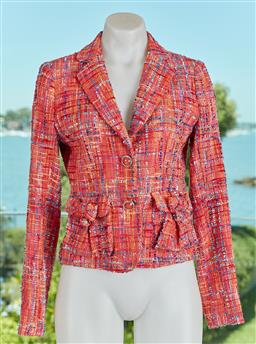 Sale 9120K - Lot 23 - An Alannah Hill pink keep her guessing jacket; with woollen contrast and viscose lining, two frontal pockets, as new with original t...