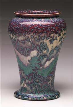 Sale 9114 - Lot 13 - Ruskin pottery vase (H:21.5cm), stamped to base