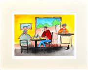 Sale 8301A - Lot 17 - Kevin Charles (Pro) Hart (1928 - 2006) - The Front Bar of the Pub (II) 20.5 x 30cm