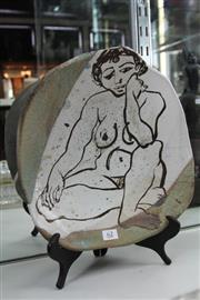 Sale 8322 - Lot 62 - Australian Studio Pottery Charger