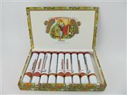 Sale 8411 - Lot 623 - 9x Romeo y Julieta Romeo No.3 Cigar, Havana - individual tubes in original box, 11.5cm