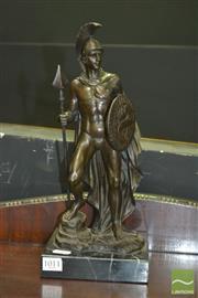 Sale 8431 - Lot 1011 - Bronze On Marble, Roman Soldier