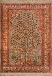 Sale 8447C - Lot 10 - Superfine Pure Silk Turkis Qisari 108cm x 80cm