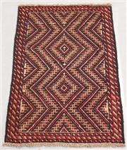 Sale 8445K - Lot 27 - Afghan Baluchi Tribal Rug , 145x90cm, Handwoven in Afghanistan using local wool. Highly durable rustic construction. Heavily motifed...
