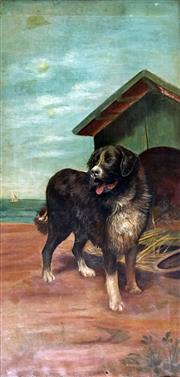 Sale 8544A - Lot 5021 - Australian School - Portrait of Collie, c1900 89.5 x 44cm