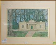 Sale 8604 - Lot 2067 - Architectual Signed Pastel Picture