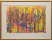 Sale 8655 - Lot 2023 - Jennifer Plunkett (1950 - ) - Poplars, 1994 62.5 x 92.5cm (frame: 93.5 x 122cm)