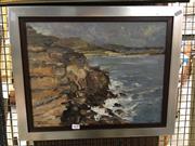 Sale 8720 - Lot 2049 - Eric Bluhdorn - Coastal Scene oil on canvas, 35 x 44cm, signed lower left