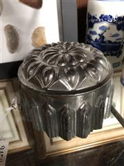 Sale 8775 - Lot 61 - A small steel jelly mould, French 19th century, diameter 13cm