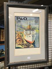 Sale 8776 - Lot 2082 - Framed Vintage P& O Poster: Ceylon, India, Egypt & France Route