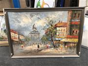 Sale 8816 - Lot 2092 - Parisian Street Scene by an Unknown Artist, 67 x 98cm (frame)