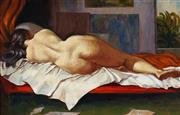 Sale 9001 - Lot 524 - John Santry (1910 - 1990) - Reclining Nude 37 x 59 cm (frame: 55 x 77 x 4 cm)