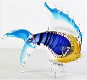 Sale 8989 - Lot 35 - Large Vintage Art Glass Figure of a Fish, Possibly Murano (L29.5cm)