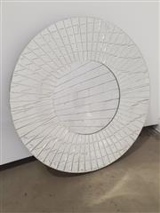 Sale 9071 - Lot 1070 - Round Mirror Framed Mirror (d:80cm)