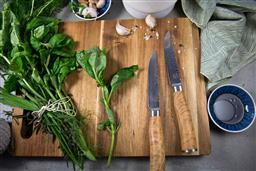 Sale 9156L - Lot 84 - USK Signature Wagyu Steak Knife Set of 2 - Olive Wood Handle