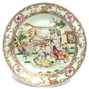 Sale 8292 - Lot 87 - Famille Rose Export Plate