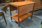 Sale 8338 - Lot 1039 - Teak 1960s Tea Trolley with Drop Sides