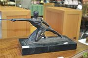Sale 8431 - Lot 1087 - Bronze On Marble, Roman Olympian