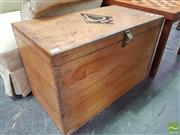 Sale 8465 - Lot 1080 - Timber Trunk with Spades Motif