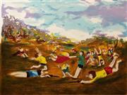Sale 8609A - Lot 5042 - David Boyd (1924 - 2011) - War Games 59 x 78cm (sheet size: 75 x 106cm)