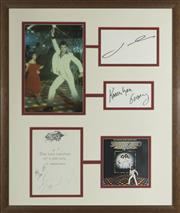 Sale 8635A - Lot 5028 - John Travolta, The Bee Gees & Karen Lynn Gorney