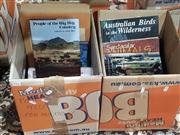 Sale 8822B - Lot 871 - 2 Boxes of Books Various Books incl. Rees, C. & L. People of the Big Sky Country; Lines, B. Downunder; Arpadi, V. Marzipan; etc