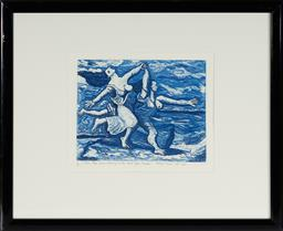 Sale 9101 - Lot 2004 - Bruno Tucci (1946 - ) Two Women Running on the Beach (After Picasso), 1990 etching, ed. 9/25 II State,54.5 x 45cm (frame), signed an...