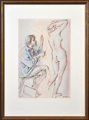 Sale 8408 - Lot 505 - Louis Kahan (1905 - 2002) - Pygmalion 55 x 36cm