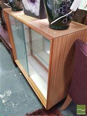 Sale 8424 - Lot 1057 - Raised Display Cabinet w Sliding Glass Doors