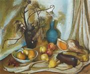 Sale 8504 - Lot 547 - Adelaide Perry (1891 - 1973) - Still Life Arrangment, 1966 60.5 x 74cm