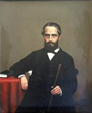 Sale 8544A - Lot 5022 - Artist Unknown (C19th) - Portrait of Gentleman 39.5 x 33cm