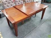 Sale 8620 - Lot 1052 - Oak Extension Dining Table (H:76 W:180 D:90cm)
