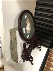 Sale 8815C - Lot 61 - Rosewood Cat Screen H:20cm