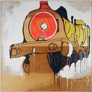 Sale 8938 - Lot 555 - Jasper Knight (1978 - ) - I Choo, Choo, Choose You, 2009 148 x 148 cm