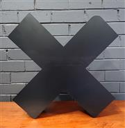Sale 8979 - Lot 1082 - Metal X Form Magazine Rack (H:55 W:55 D:16cm)