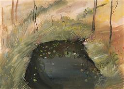Sale 9161A - Lot 5003 - ROBYN PALMER - The Waterhole 51.5 x 71.5 cm (frame: 86 x 104 x 5 cm)