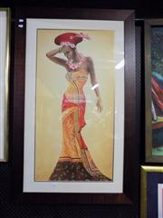 Sale 8429A - Lot 2064 - Framed African Print