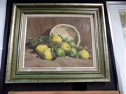 Sale 8441T - Lot 2080 - Olive McAleer (1980s - 1990s) - Still Life with Lemon 35 x 45cm