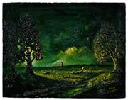 Sale 8544 - Lot 2029 - Charles Edward (Hoppy) Hopgood (1917 - 1992) - Moonlight 35.5 x 45.5cm