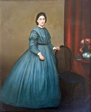 Sale 8544A - Lot 5023 - Arist Unknown (C19th) - Portrait of a Lady 39.5 x 32cm
