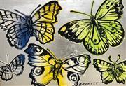 Sale 8609A - Lot 5005 - David Bromley (1960 - ) - Butterflies 76 x 111cm