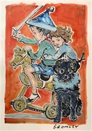 Sale 8723A - Lot 5007 - David Bromley (1960 -) - Rocking Horse 85 x 57cm