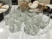 Sale 8746 - Lot 1012 - A set of eleven good quality faceted crystal tumblers