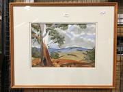 Sale 8779 - Lot 2099 - K Turner - Country Scene, watercolour, SLR