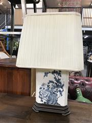Sale 8805 - Lot 1097 - Chinese Blue & White Crackle Glazed Table Lamp