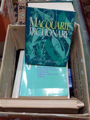 Sale 8822B - Lot 873 - Box of Books incl. The MacQuarie Dictionary; Basic Course in Japanese; Australia & New Zealand Complete World Atlas; etc